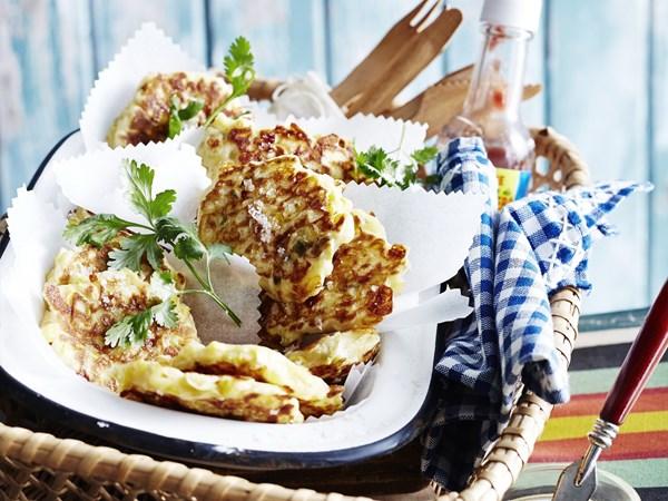 Jalapeño & cheddar corn fritters
