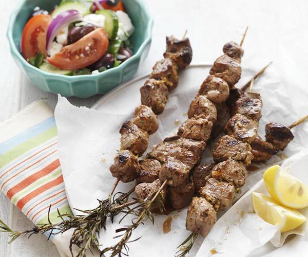 Lamb kebabs on rosemary skewers recipe | Food To Love