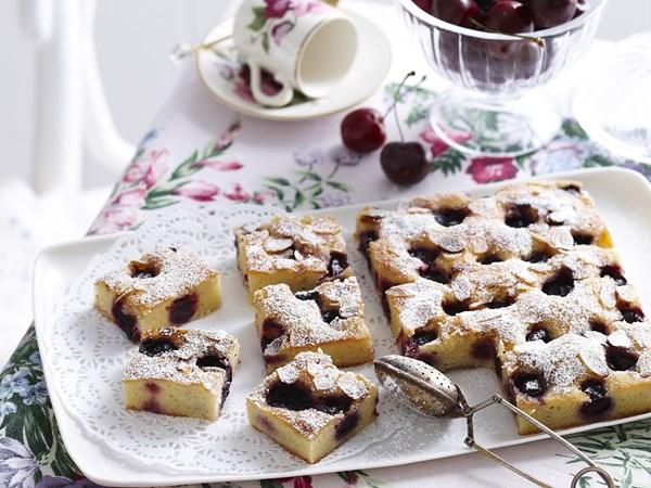 Frangipane cherry squares