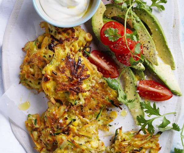 Healthier Zucchini And Carrot Fritters Recipe — Dishmaps