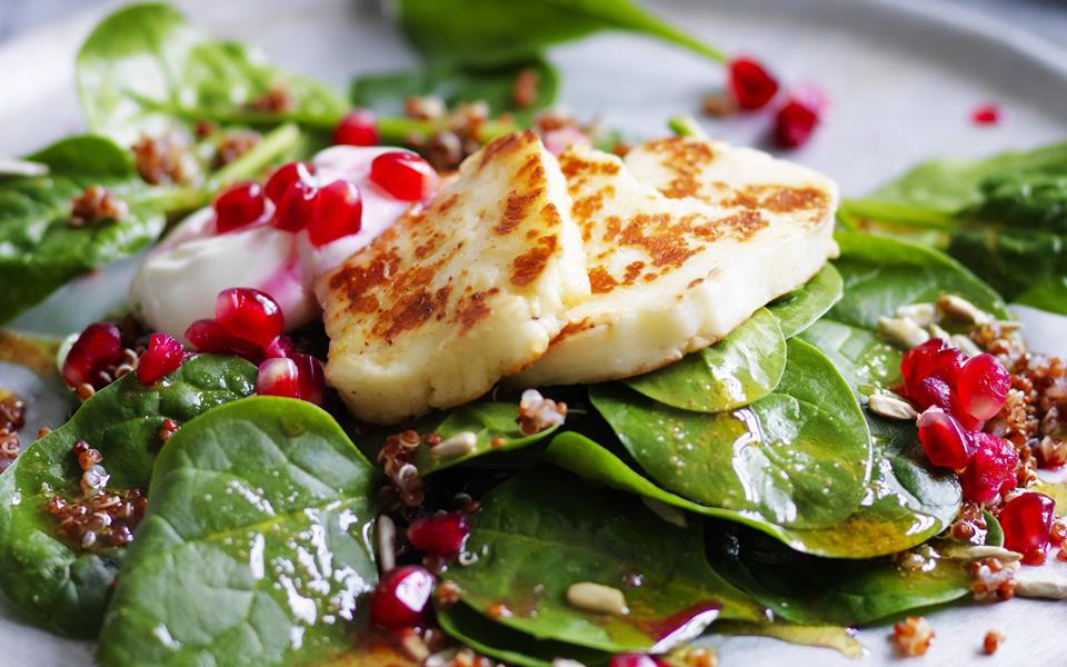 Quinoa salad with haloumi and pomegranate recipe | FOOD TO LOVE