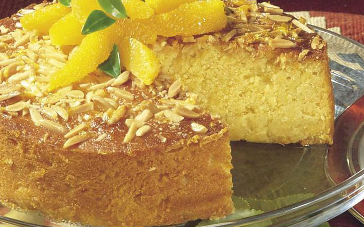 Orange Almond Syrup Cake