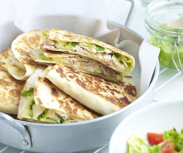 Chicken quesadillas with avocado salad recipe | Food To Love