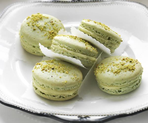 Pistachio white chocolate and honey French macarons recipe | Food To ...