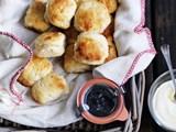 Buttermilk scones with jam and cream