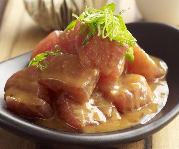 Tuna sashimi salad with miso dressing recipe food to love for Sashimi dressing