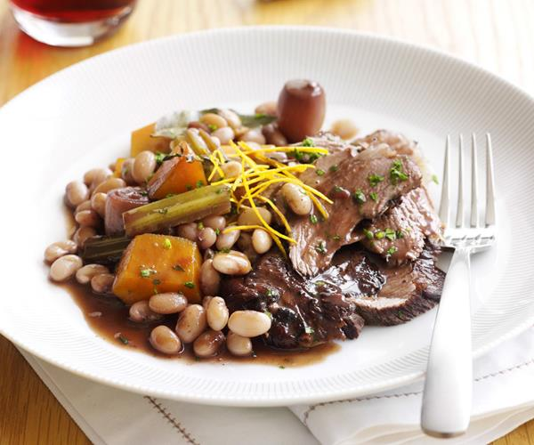 Slow-cooked lamb with white beans recipe | Food To Love