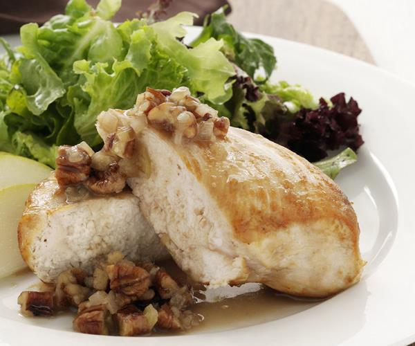 Chicken with pecan honey sauce