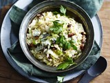 Cabbage, pancetta & gorgonzola risotto