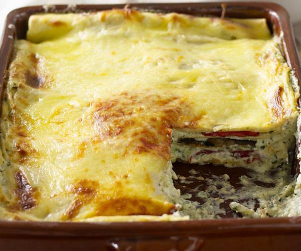 Three-cheese vegetarian lasagne recipe | Food To Love
