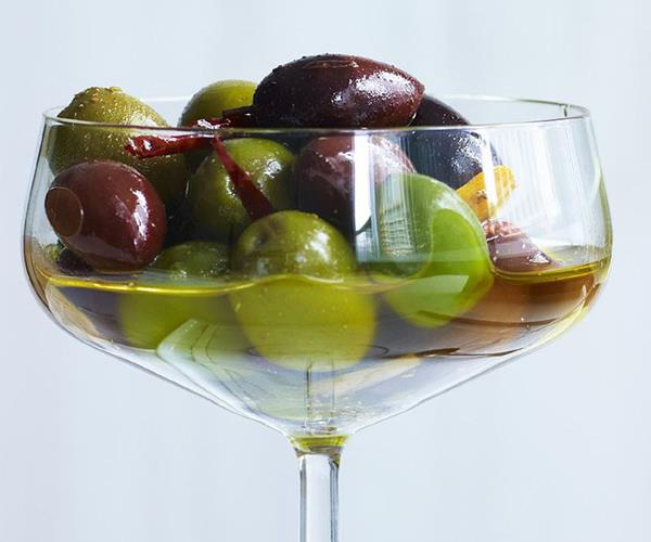 Warm herb and citrus marinated olives recipe | Food To Love