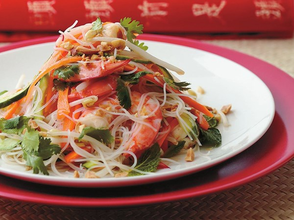 Prawn and sweet chilli salad