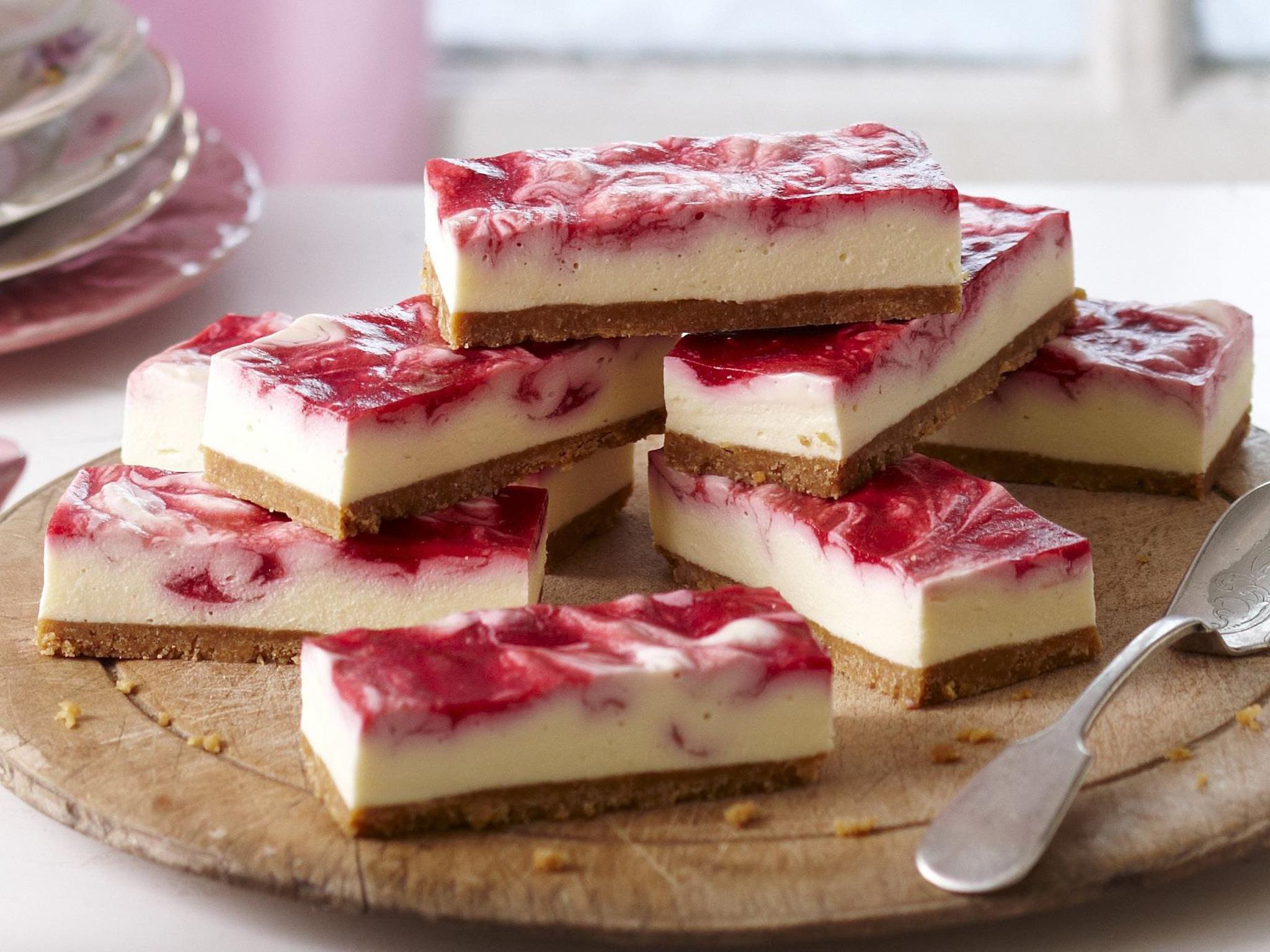 White Chocolate Raspberry Swirl Cheesecake