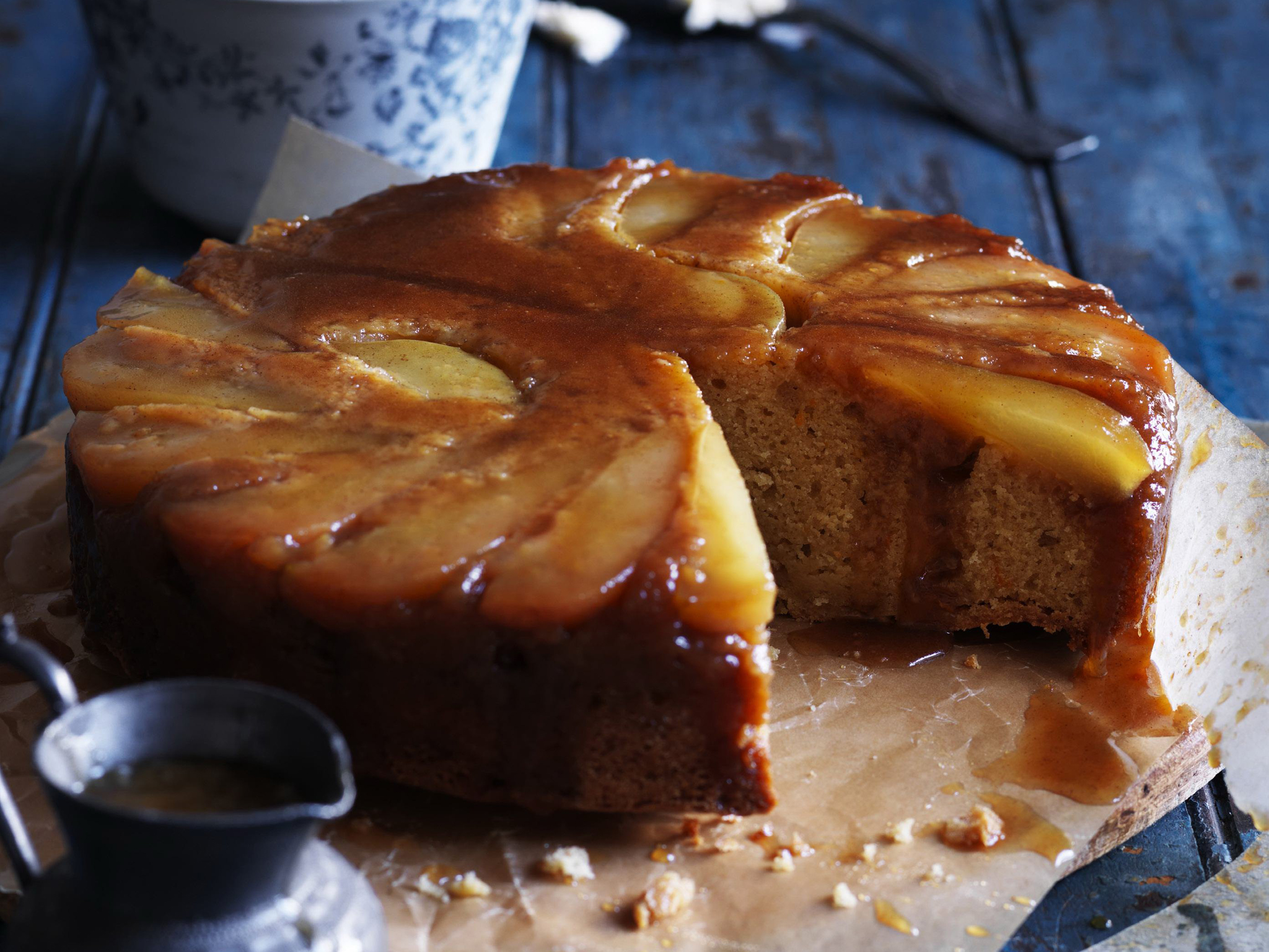 Recipe pear and ginger upside down cake