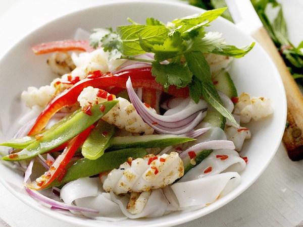 Салат из кальмаров риса с фото очень вкусный
