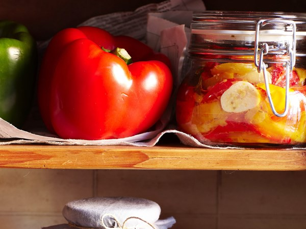 Marinated capsicums