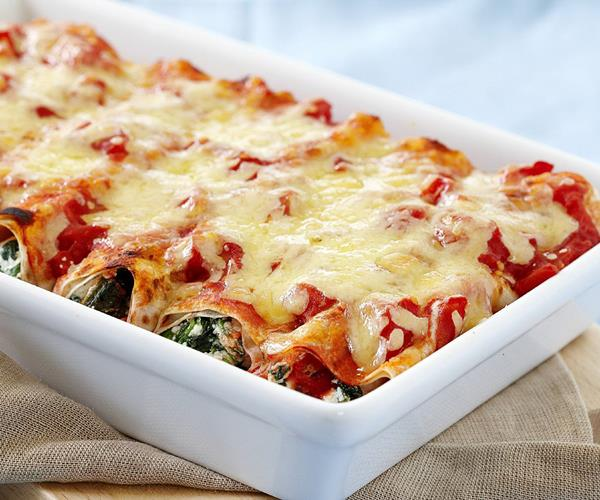 Wholemeal spinach and ricotta cannelloni recipe | Food To Love