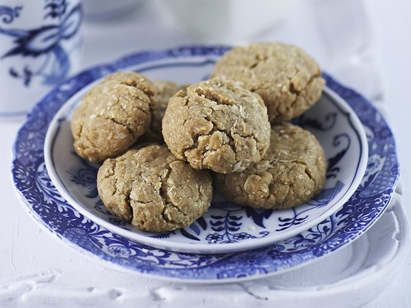 Bite-sized Anzac biscuits