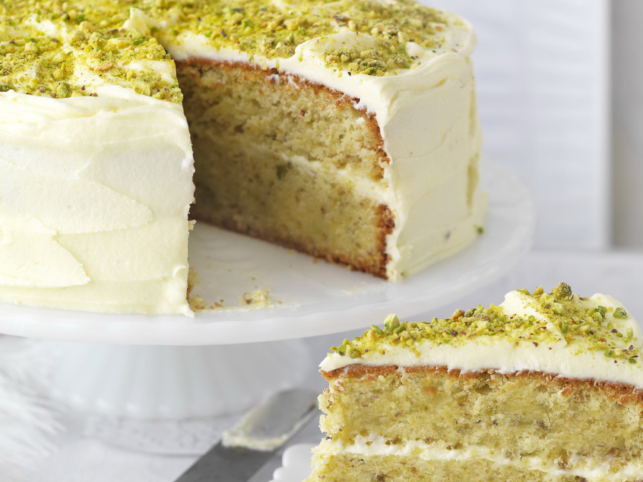 Pistachio And Rosewater Layer Cake Recipe Food To Love