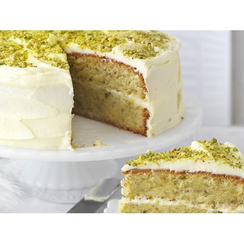 Pistachio and rosewater layer cake recipe | Food To Love