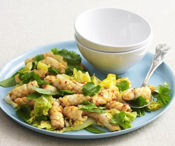 Spicy Stir Fried Squid Salad Recipe Food To Love