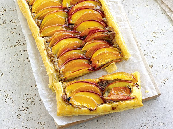 Nectarine and apricot tarts