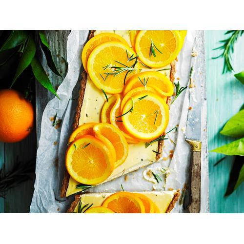 Sugar-free rosemary, labne and orange tart recipe | Food To Love
