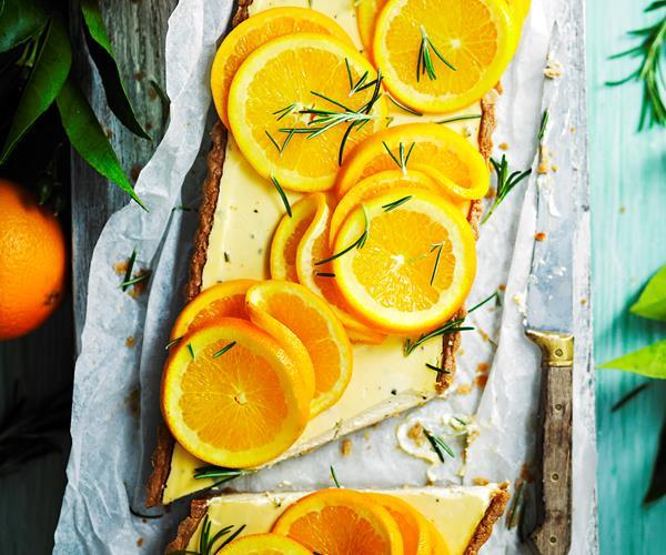 Orange And Rosemary Tart Recipe — Dishmaps