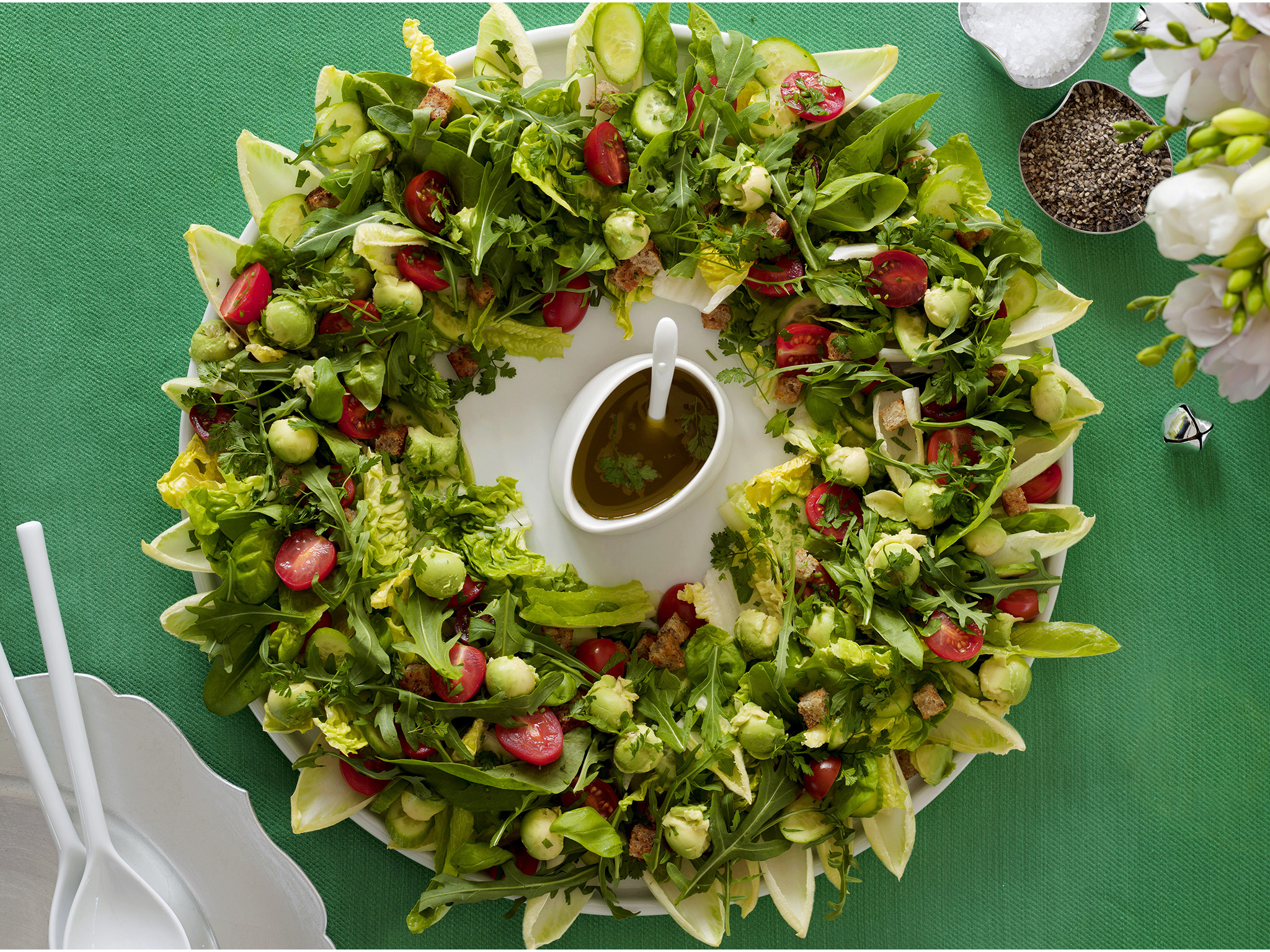 christmas wreath salad recipe food to love