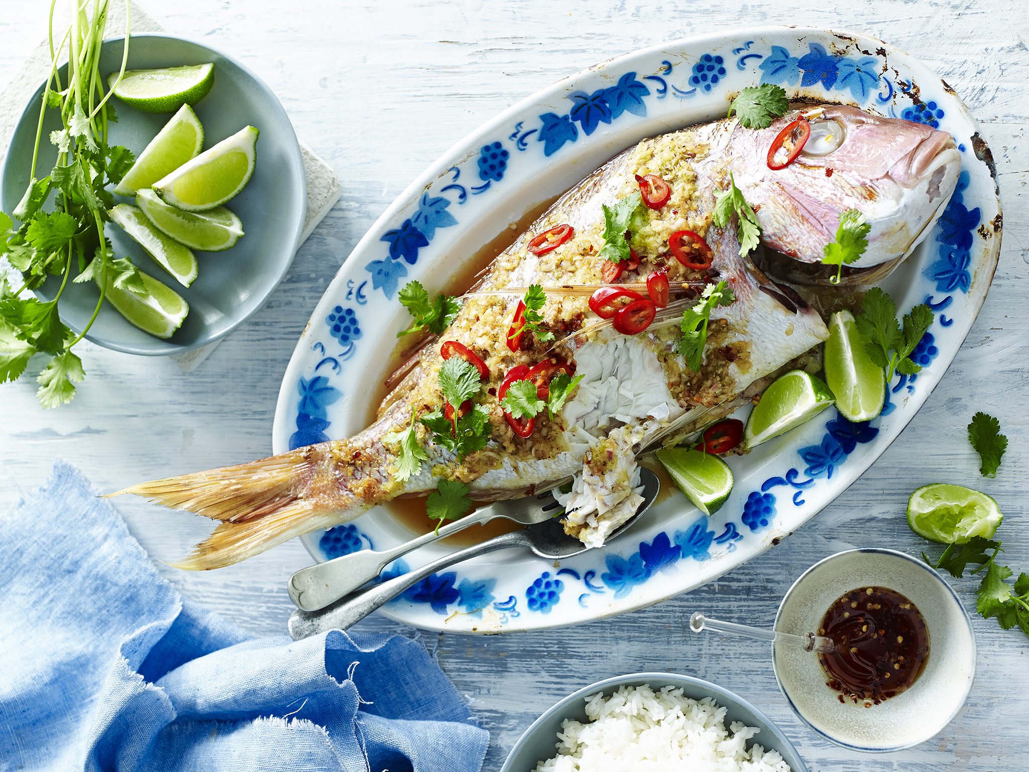 Ginger And Lemongrass Whole Baked Snapper Recipe