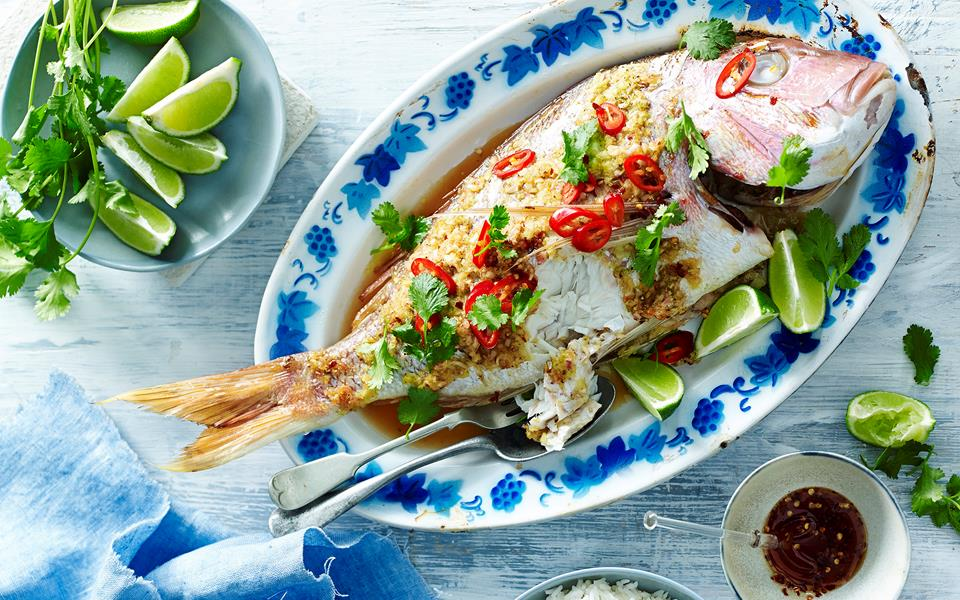 Snapper+Recipes+Baked Ginger and lemon grass whole baked snapper ...
