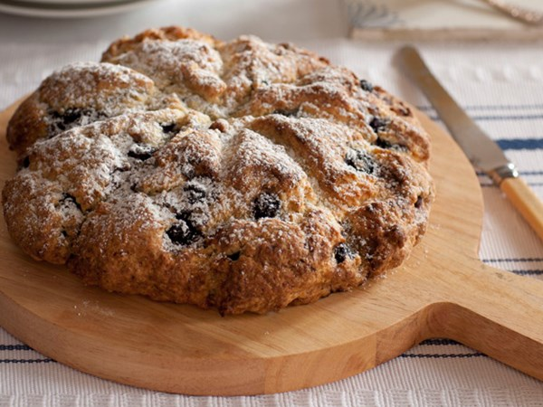 Blueberry and almond breakfast scone