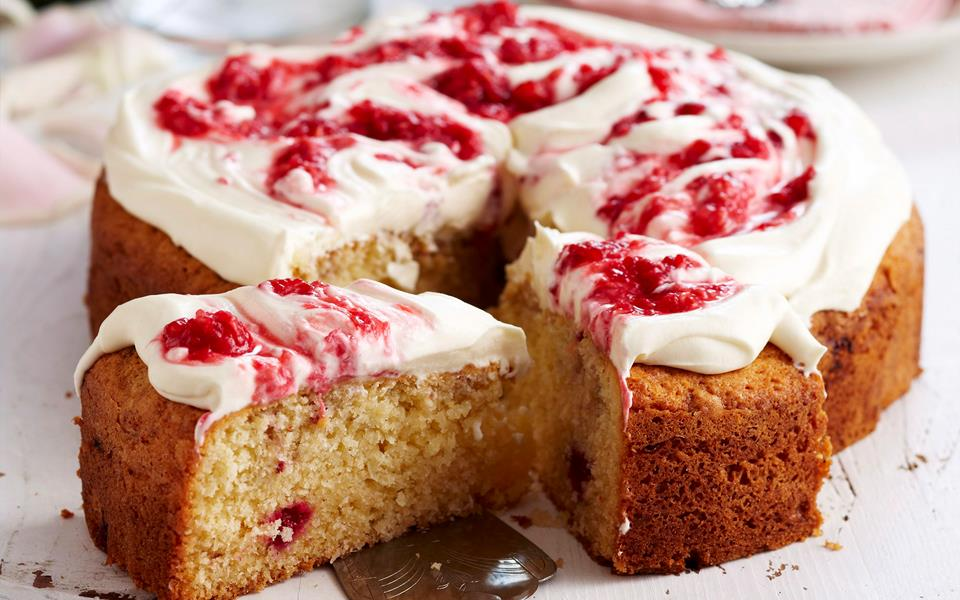 Coconut and raspberry cake recipe | FOOD TO LOVE