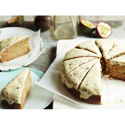 Women S Weekly Banana Cake With Passionfruit Icing