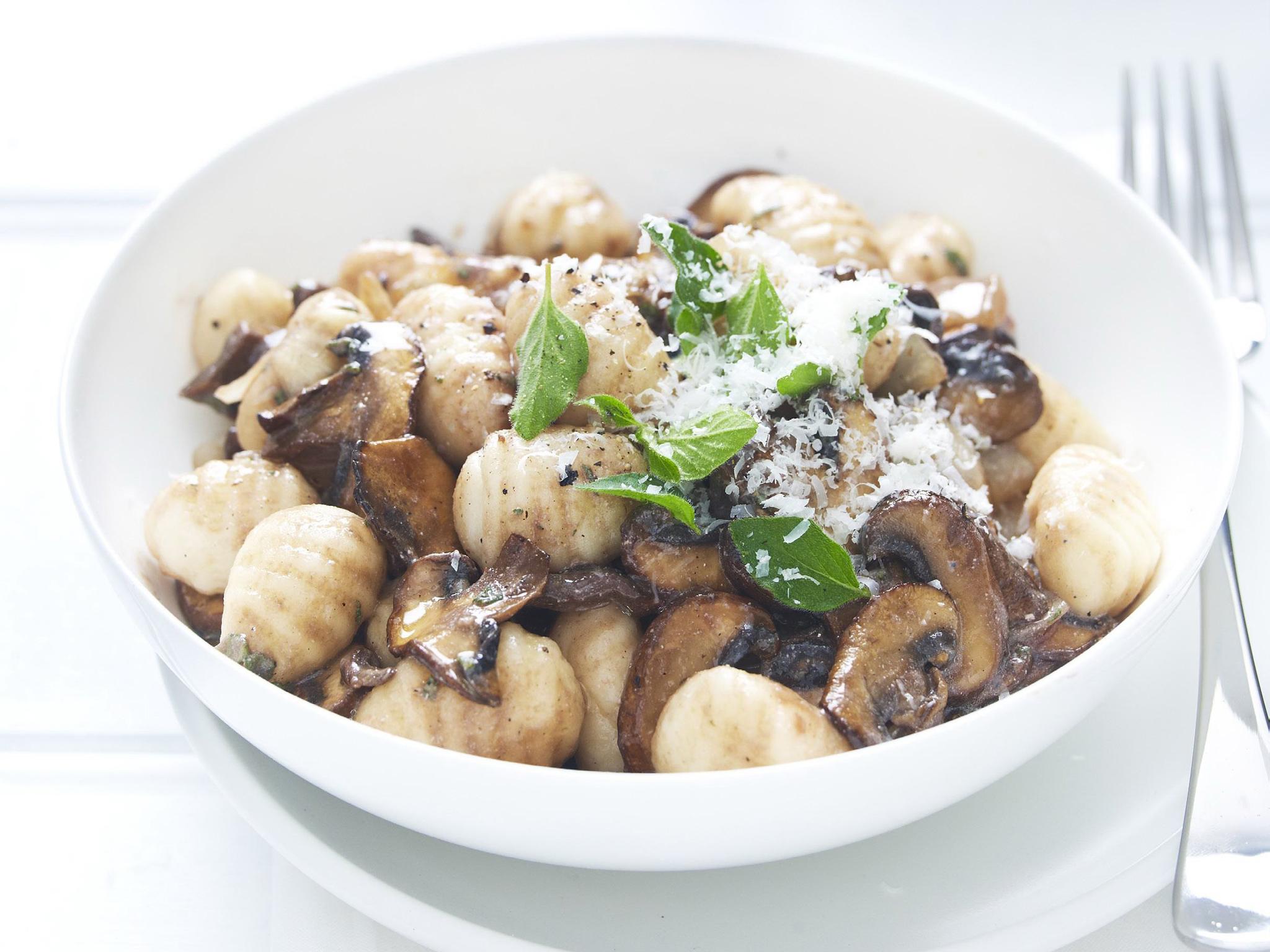 Mushroom sauce from champignons