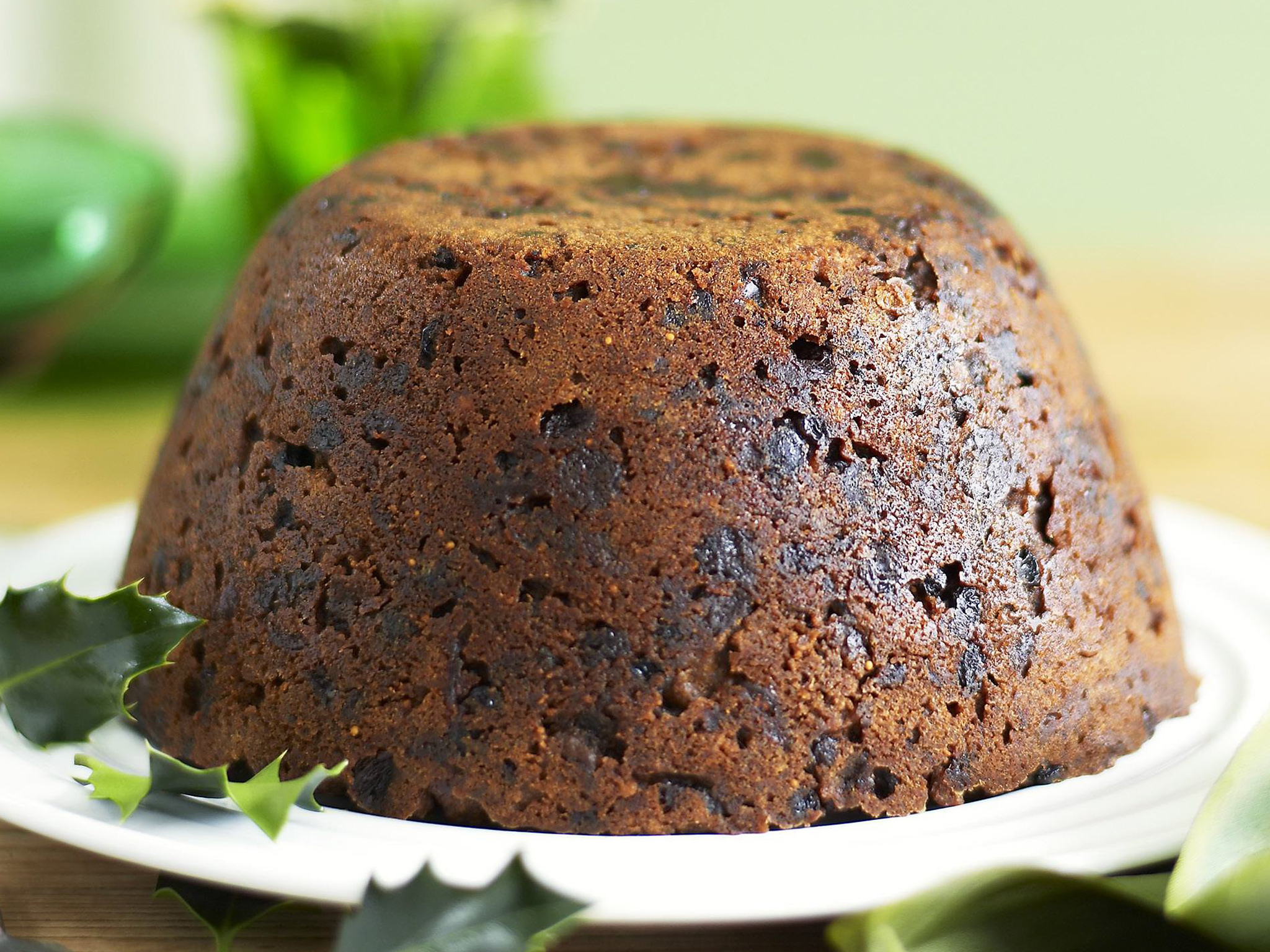 Steamed christmas pudding for Xmas pudding