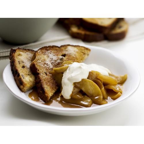 Cinnamon toast with caramelised apples recipe | Food To Love