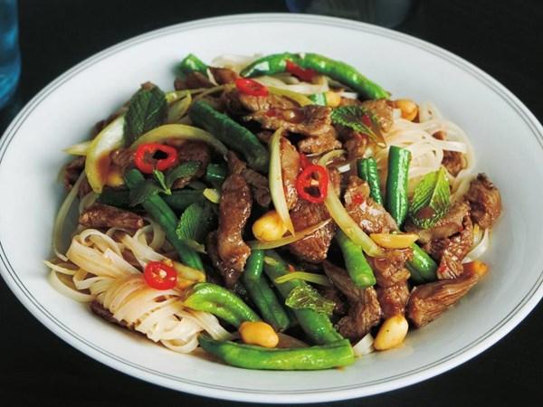 Thai lamb and noodle stir-fry