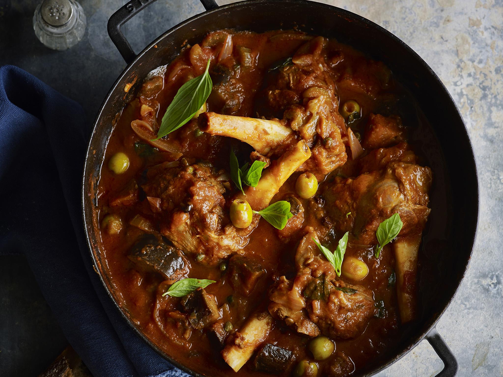 recipe: lamb and aubergine stew [19]