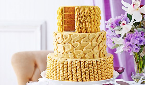 Salted caramel celebration cake