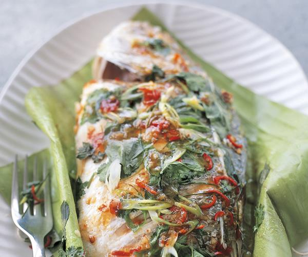 Whole Thai-style Steamed Fish Recipe