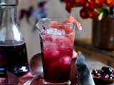 Crushed cherry cocktail or cordial