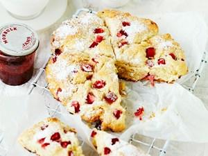 Strawberry bliss scones