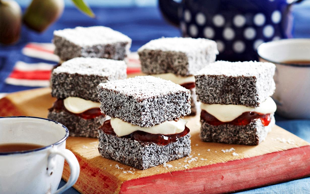 Lamington Cake With Jam And Cream Recipe