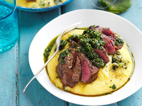 steak and polenta grits