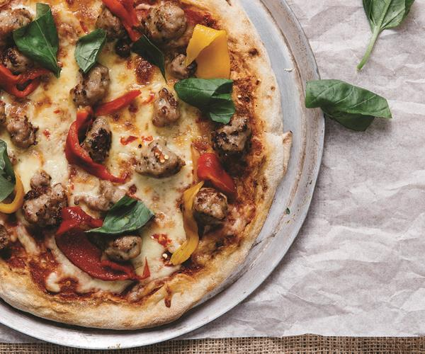 Calabrese pizza with fennel sausage and chilli