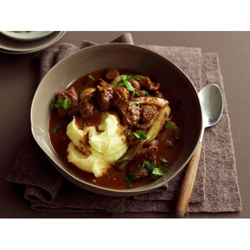 and horseradish chive cream beef stew in red wine with bacon onions ...