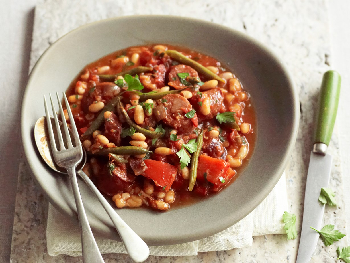 Slow-cooker chorizo, chilli and white bean stew recipe Food To Love