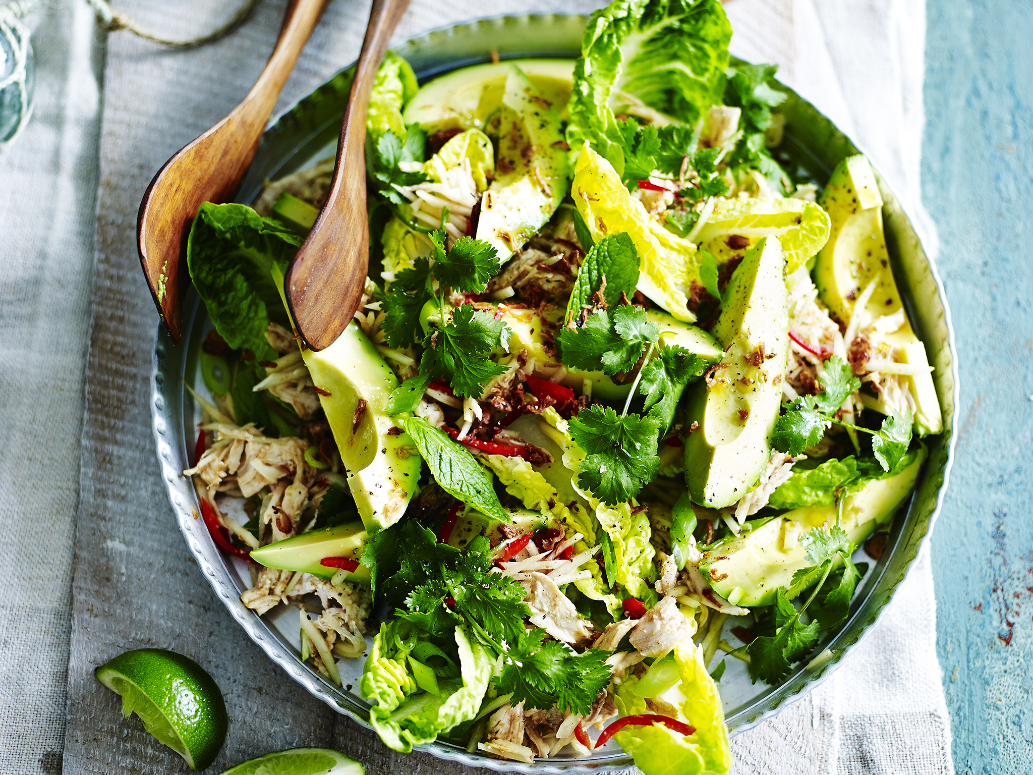 Poached chicken salad with avocado and green papaya recipe food to poached chicken salad with avocado and green papaya recipe food to love forumfinder Images