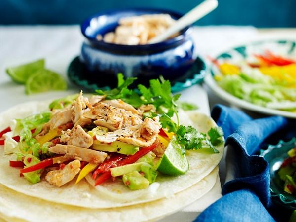 Spicy chicken tortillas